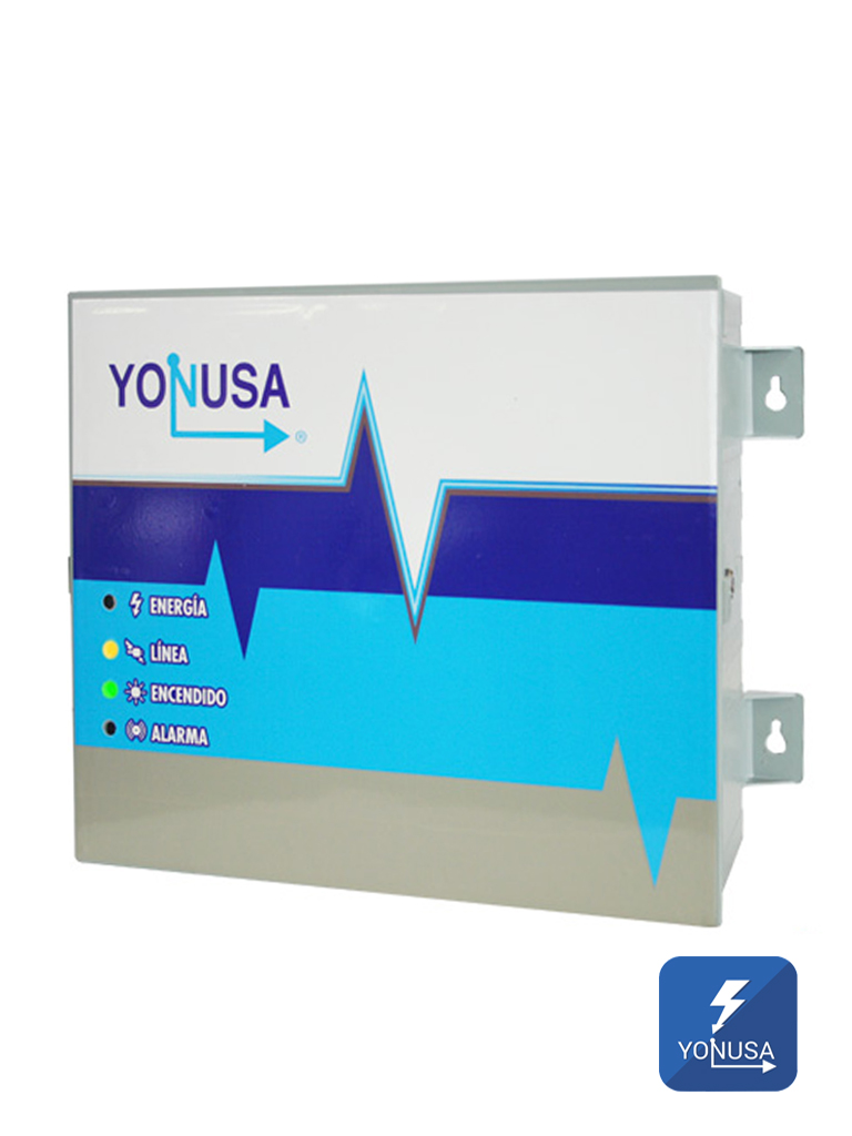 YONUSA EY1200012725 - Energizador Para cerco electrico / 12 000V / Hasta 1200  Mts lineales / Sin interface/ Soporta modulo WiFi y bateria de respaldo BR4AH