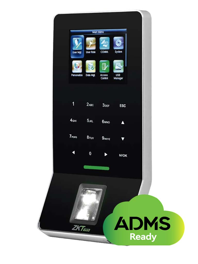 ZKTECO F22IDADMSPAK - Control de Acceso y Asistencia / 3000 Huellas / 5000 Tarjetas  ID / SILKID / ADMS incluido compatible con Bio Time Pro