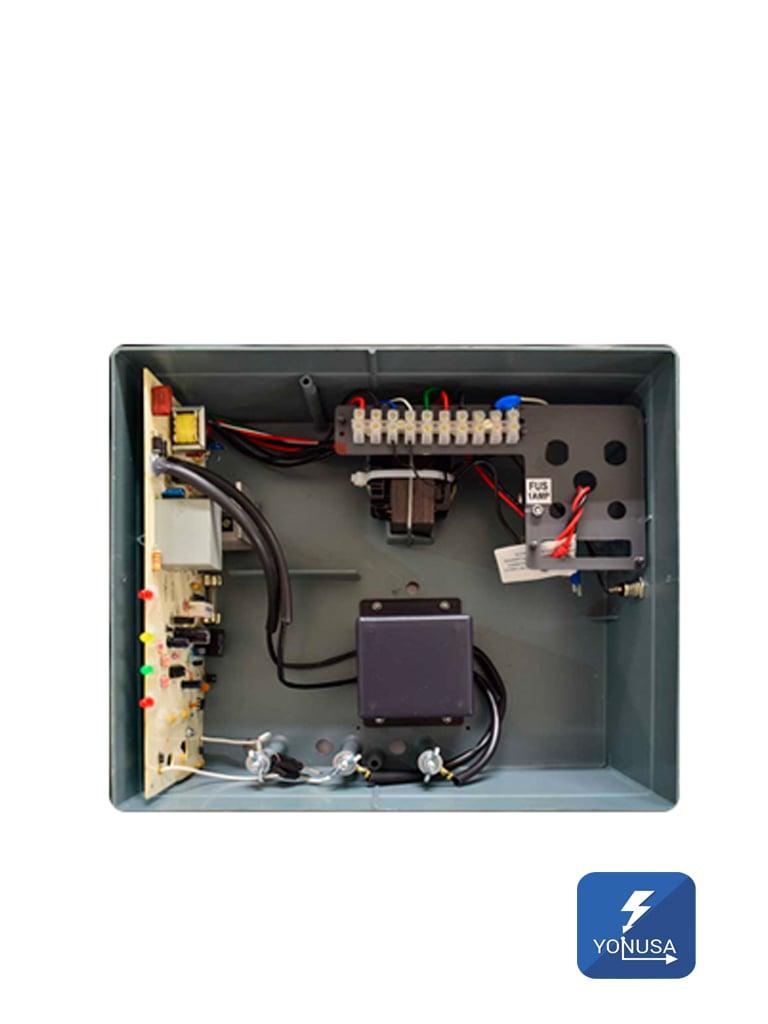 YONUSA EYNG12001 - Energizador nueva generacion para cerco electrico / 12000 V/ Hasta 2 500  Mts lineales / Soporta modulo  WiFi y bateria de respaldo
