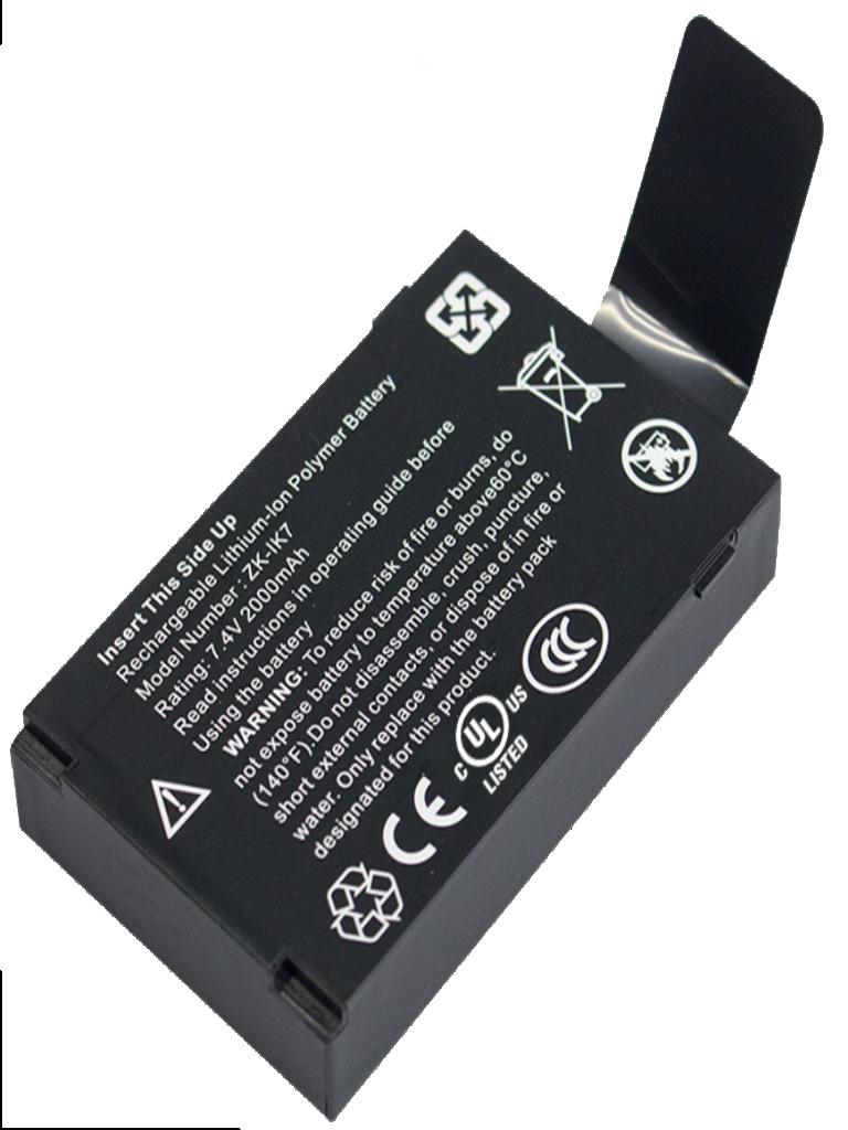 ZKTECO IK7 - Batería de Respaldo para Control de Acceso/ IFACE302/ ICLOCK880/ BIOPAD100/ LP400/ IFACE800/ UFACE800/ SFACE900
