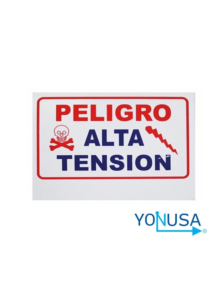 YONUSA LPVOLTAS - LETRERO GENERICO DE ALTA TENSION PARA COLOCACION EN CERCAS ELECTRICAS YONUSA