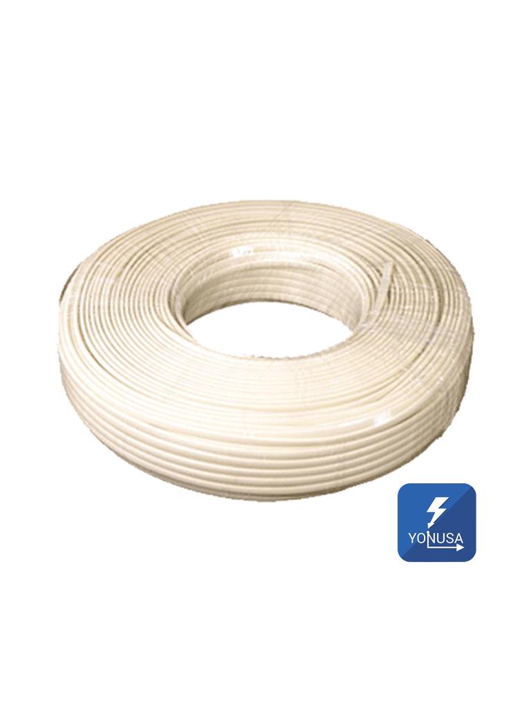 YONUSA CDA100 - Cable bujia o doble aislado recomendado para cercos electricos YONUSA / Bobina de 100  Mts / Calibre 22  AWG / Hasta 12,000V