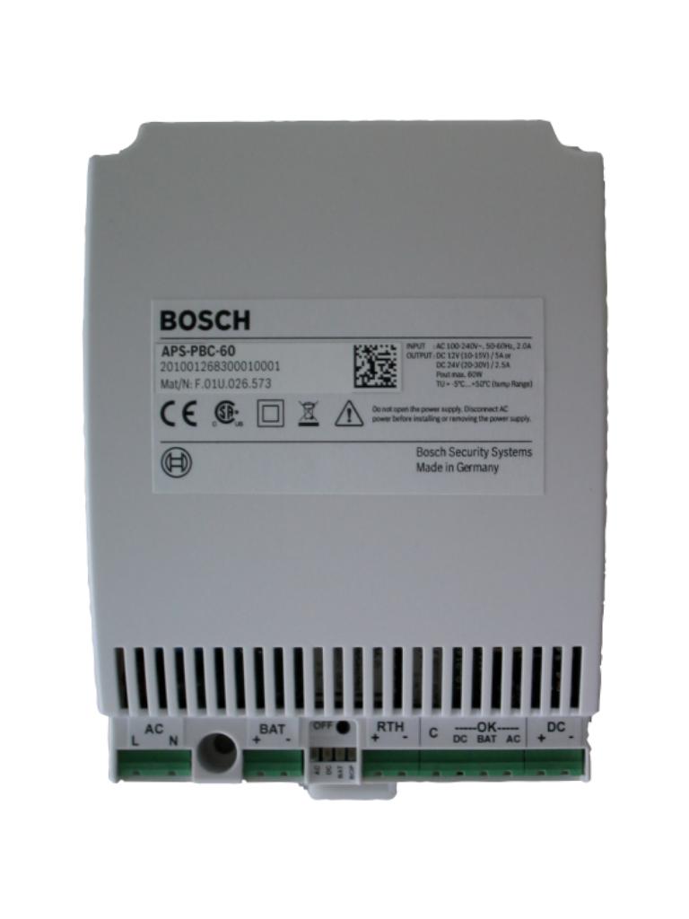 BOSCH A_APSPBC60- FUENTE DE ENERGIA 12V O 24V/ PUERTO PARA BATERIA INTEGRADO/COMPATIBLE CON CONTROLADOR AMC2