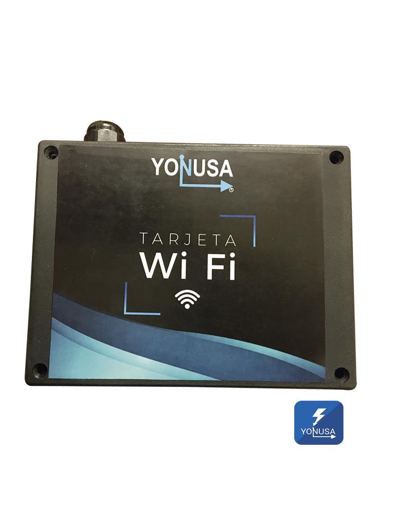 YONUSA MWIFI - Modulo WiFi para control de cercas electricas Yonusa a traves de celular/ Compatible con todos los modelos de energizadores Yonusa con 4 salidas de relay / App para iOS-Android
