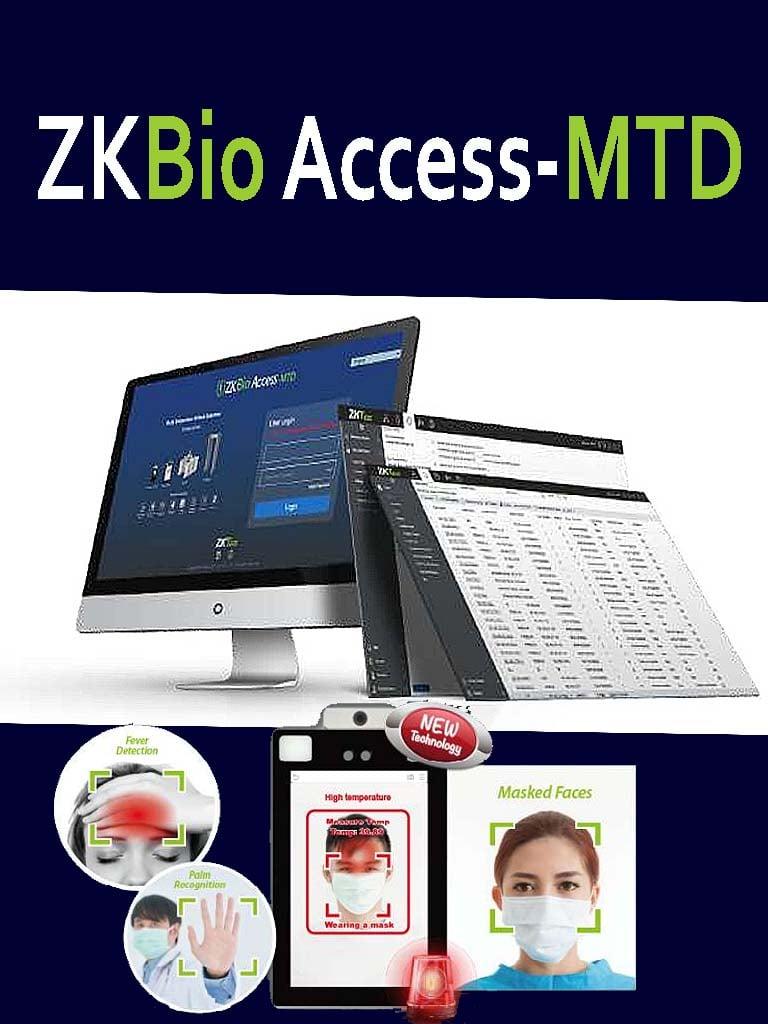 ZKTECO ZKBATAP25 - Licencia de tiempo y asistencia Bio Access / 25 terminales / 2,000 usuarios / 200 departamentos