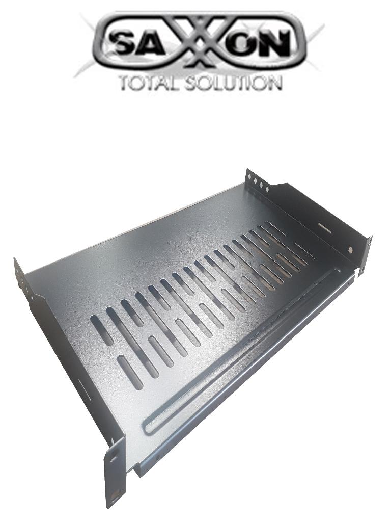 SAXXON 70140101- Charola ventilada para gabinete y rack/ Medidas de 19 pulgadas de ancho x 10 de profundidad/ 1 UR/ Soporta hasta 10 KG