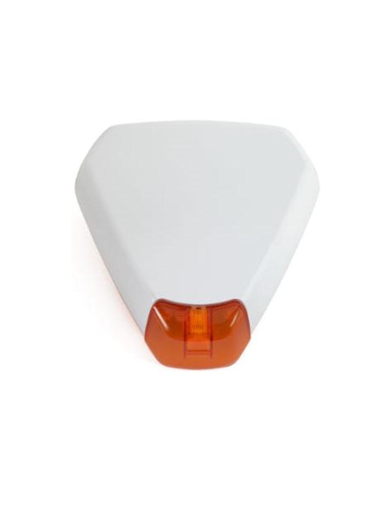RISCO RWS50 - Sirena triangular exterior inalambrica / Estroboscopica / Frecuencia 433 Mhz / Alimentacion con baterias de LITIO CR123 3V