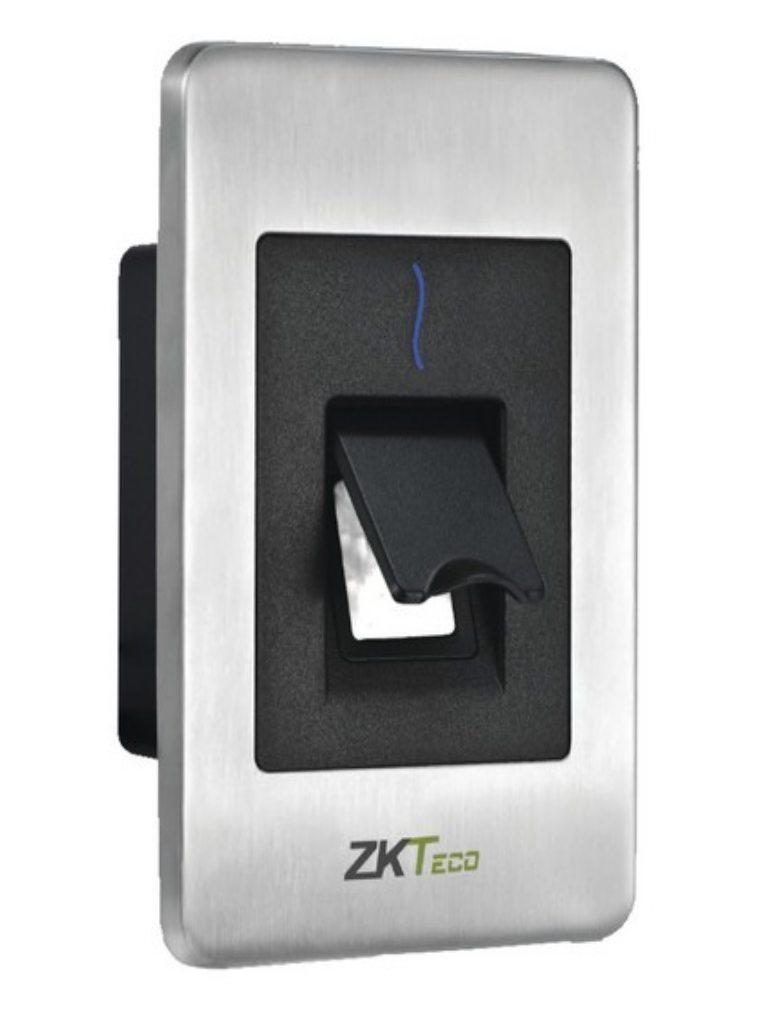 ZKTECO FR1500WP - Lector Esclavo De Huella SILK ID Tarjetas ID 125 Khz / IP65 / RS485 y Led Indicador de Estado
