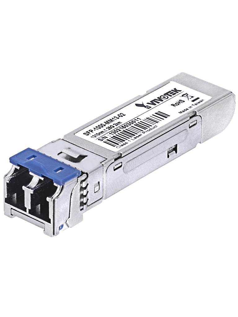 VIVOTEK SFP1000MM85X5 - Transceptor fibra optica SFP multimodo / Velocidad 1000 Mbps / Conector LC / Hasta 500 metros