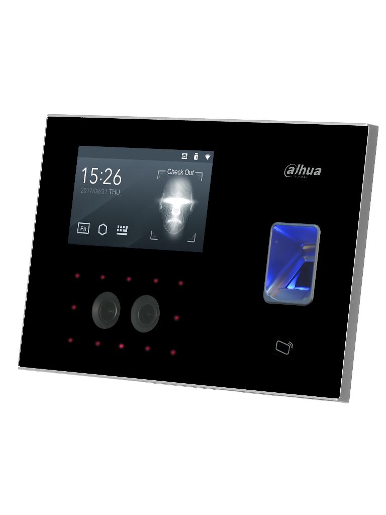 DAHUA ASA4214F - Control de acceso y asistencia con reconocimiento facial /  WiFi / P2P / 3000 Huellas / 1000 Rostros / 30000 Tarjetas MIFARE
