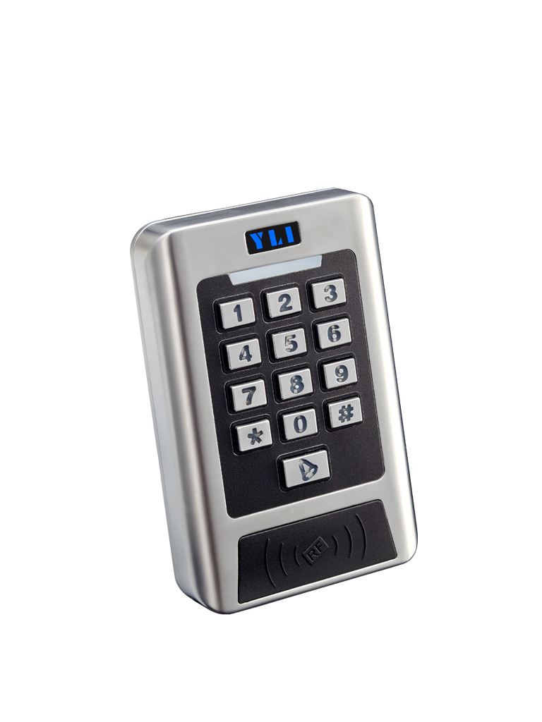 YLI YK768B - Teclado standalone / Controla hasta 2 puertas /  IP68 Exterior / 2000 Usuarios / Tarjeta  ID o password / Antipassback / 12V DC