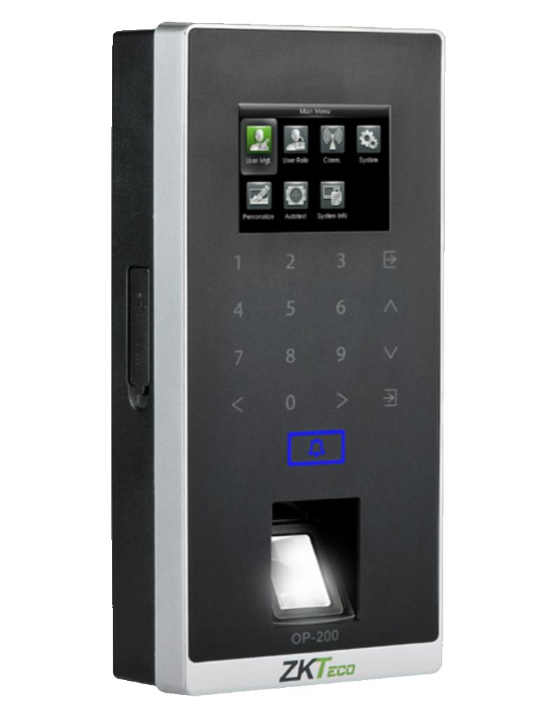 ZKTECO OP200 - Lector de Huellas Compatible con Software ONGUARD / Sensor SILK ID / Lector  ID / Función como Esclavo de Panel LENEL / Sobre Pedido