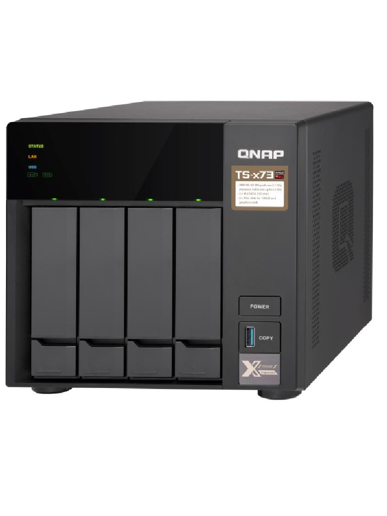 QNAP TS4738G - NAS SERVIDOR DE ARCHIVOS/ 4 BAHIAS SATA/ PROCESADOR QUADCORE TURBO CORE 3.4 GHZ/ 8GB RAM EXPANDIBLE/ 4 PUERTOS LAN GIGABIT/