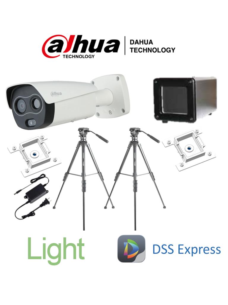 DAHUA BF3221PAQ1 - Sistema de Medición de Temperatura Corporal Light / bajo flujo de personas / Cámara Térmica Híbrida/ Blackbody/ Accesorios/ DSS Express #COVID19