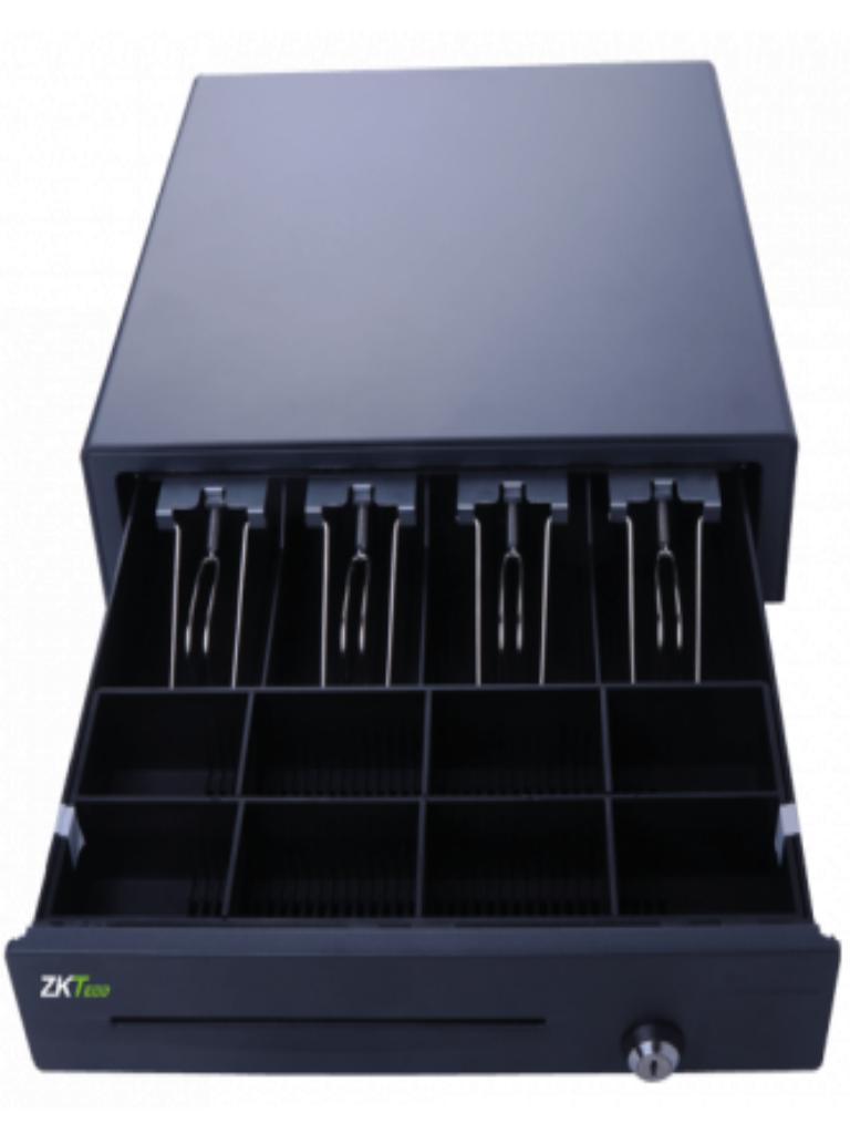 ZKTECO ZKC01 - Cajón para Efectivo / 8 Espacios para monedas / 4 Espacios para Billetes / RJ11 / Compatible con Impresora P8005 / 24V