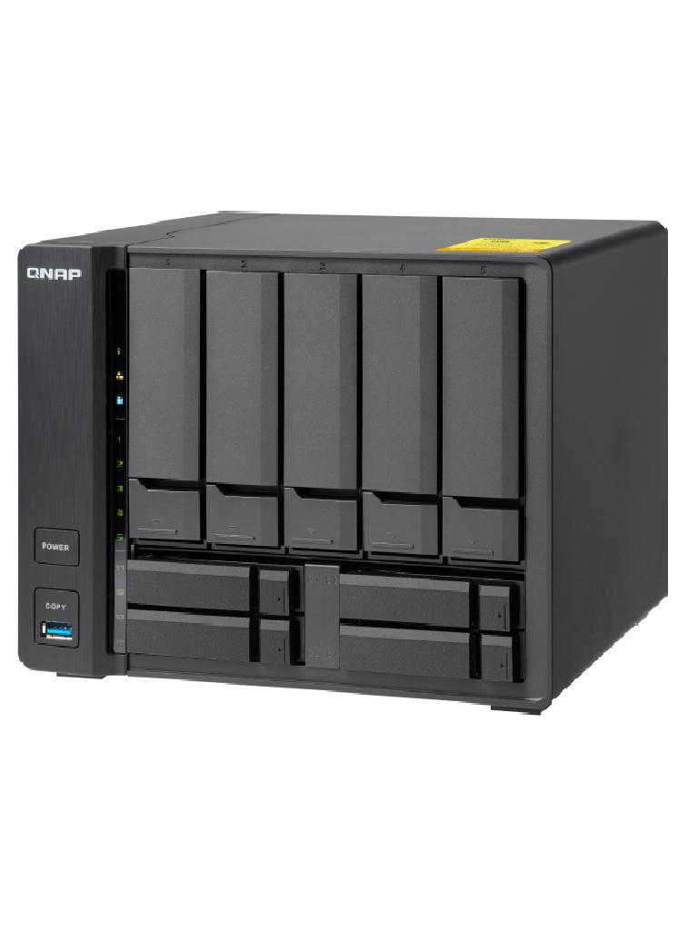 QNAP TS932X8G - NAS SERVIDOR DE ARCHIVOS/9 BAHIAS SATA/PROCESADOR  CORTEX A57 QUADCORE/8GB RAM DDR4 EXPANDIBLE/ 2 PUERTOS 10GBE SFP+/2 LAN GBE