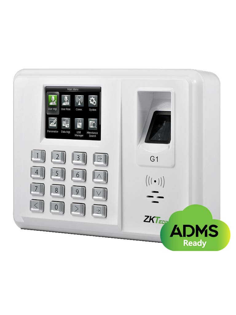 ZK G1ID- CONTROL DE ASISTENCIA BASICO / GREEN LABEL / 5000  USUARIOS / 5000 HUELLAS CON SILKID / 5000 PASSWORD / 15000 TARJETAS ID 125KHZ / TCPIP