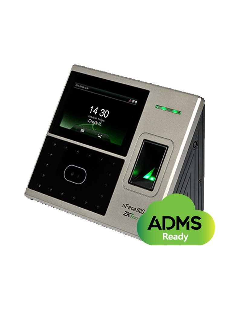 ZKTECO UFACE800 - Control de Acceso y Asistencia Simple / 3,000 Rostros / 4,000 Huellas / 100,000 Registros / TCPIP /  USB