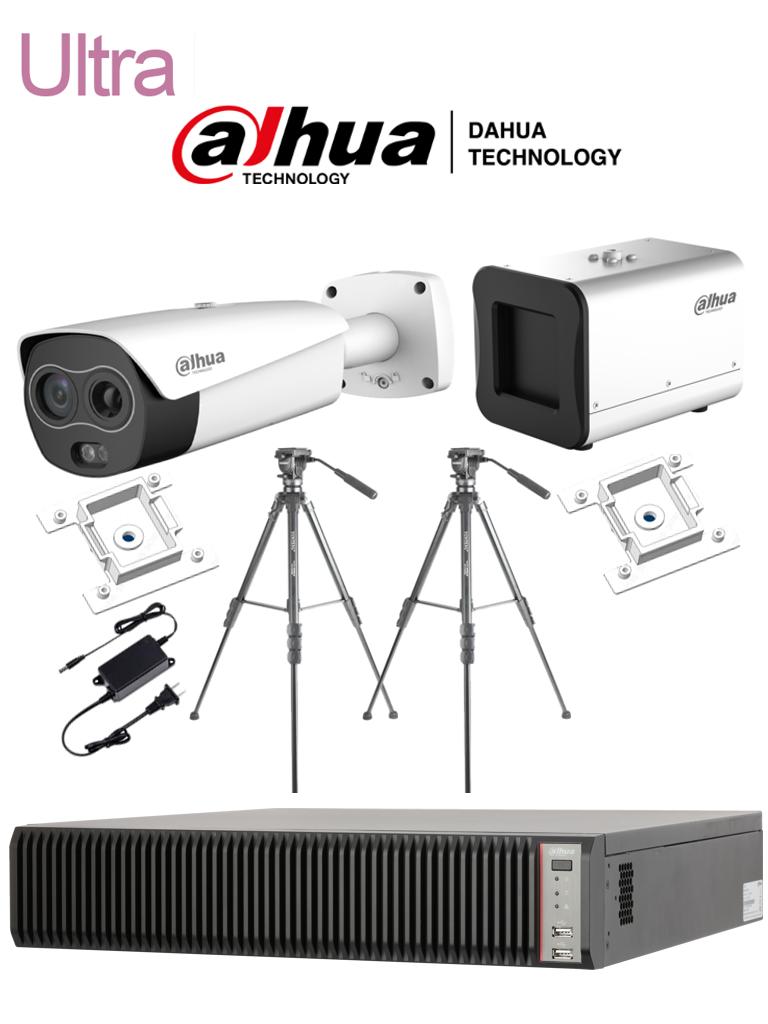 DAHUA BF5421PAQ3 - Sistema de Medición de Temperatura Corporal Ultra/ Cámara Térmica Híbrida/ Blackbody/ Servidor IVSS con IA con soporte hasta 32 Cámaras Térmicas/ Accesorios #COVID19