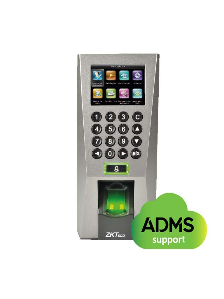 ZKTECO F18MF - Control de Acceso y Asistencia / 3000 Huellas / 5000 Tarjetas MF / 30000 Registros / Tarjetas MF / TCPIP /  USB / #Sincontacto