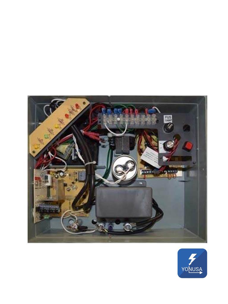 YONUSA EY10000127AF - Energizador alta frecuencia para cerco electrico / Antiplantas / Incluye Interface /10 000 V/ Hasta 10 000 Mts Lineales/ Soporta modulo WiFi