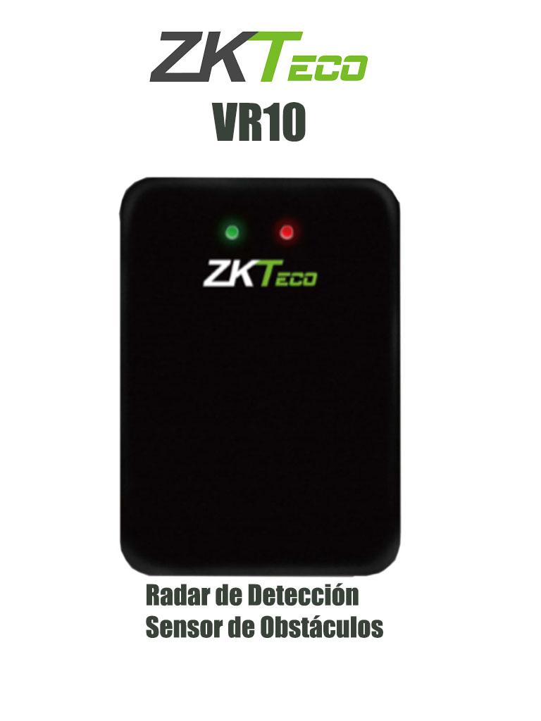 ZKTECO VR10 - Radar de Detección para Control de Acceso Vehicular / Rango de Detección de Vehículos o Personas 0-6m / RS485 / IP67 / DC 12V / Compatible con Barreras Wejoin y ZKTECO