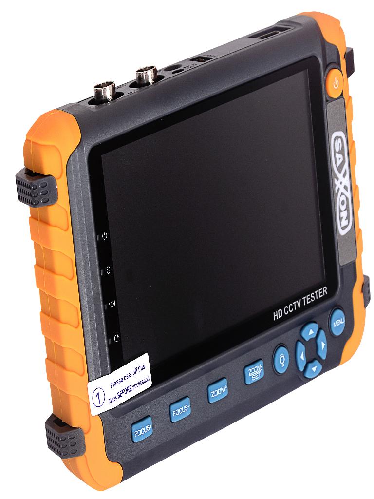 SAXXON TES08MC- Probador de video hasta 4K/ CVI/ TVI/ AHD/ Pantalla de 5 Pulgadas/ Entrada HDMI/ 2 Baterias 2.6AH/ Voltaje de salida 12V a 1 Ampere