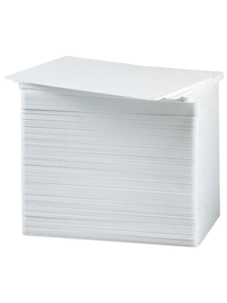 HID PVC30M - Paquete con 500 tarjeta de PVC imprimibles sin tecnologia o chip solo para credencializacion de personal/ 30 Milesimas, medida CR80