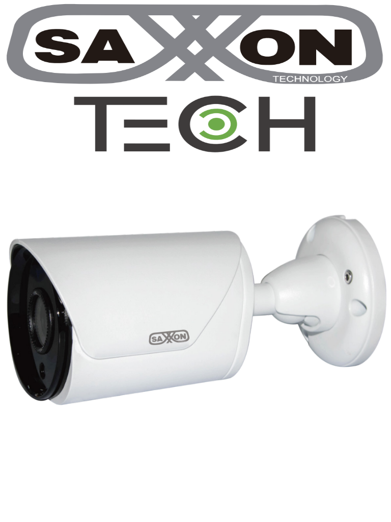 SAXXON TECH BF2820TM - Camara bullet  HDCVI  1080p / A HD / TVI / CBVS / Lente 2.8 mm / Angulo de vision 100 grados / Luz ir 20M / DWDR / IP67 / Metalica
