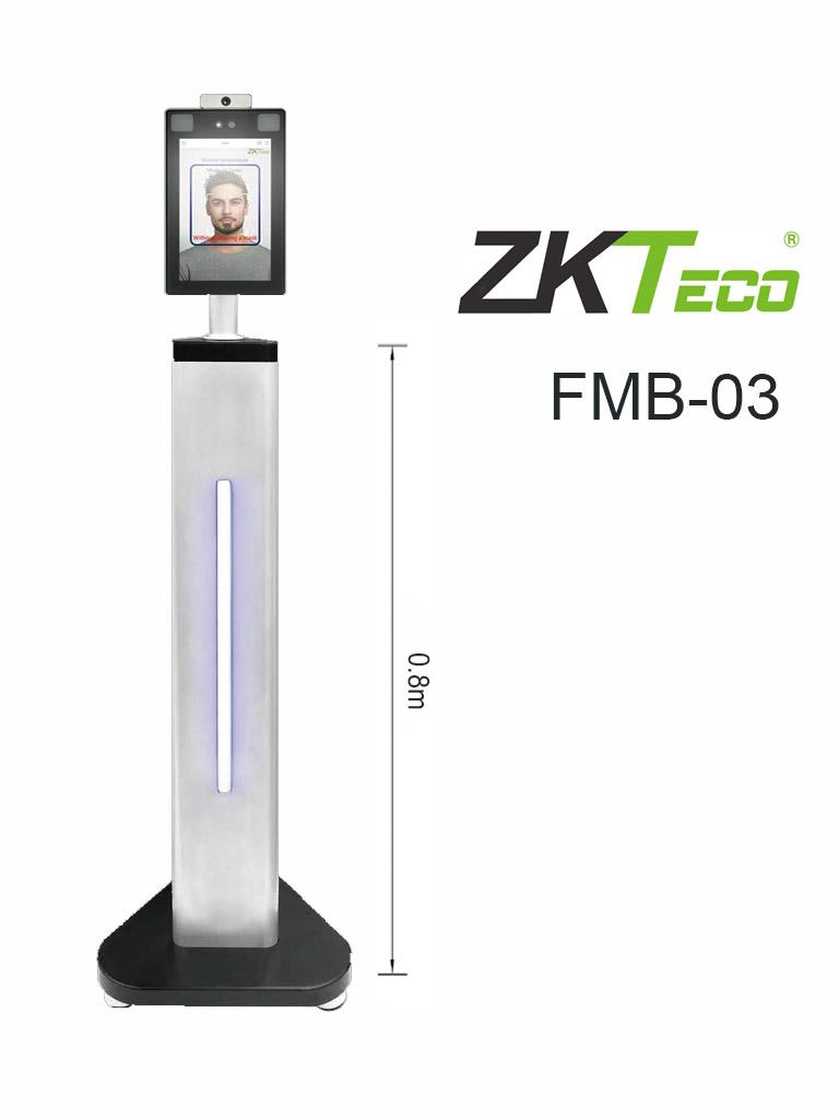 ZKTECO FMB03 - Soporte Para Interiores Compatible Con Equipos De Medición De Temperatura ZKTeco 321x288x832mm / Requiere Soporte KJZ03 para Montaje de Equipo de Pared