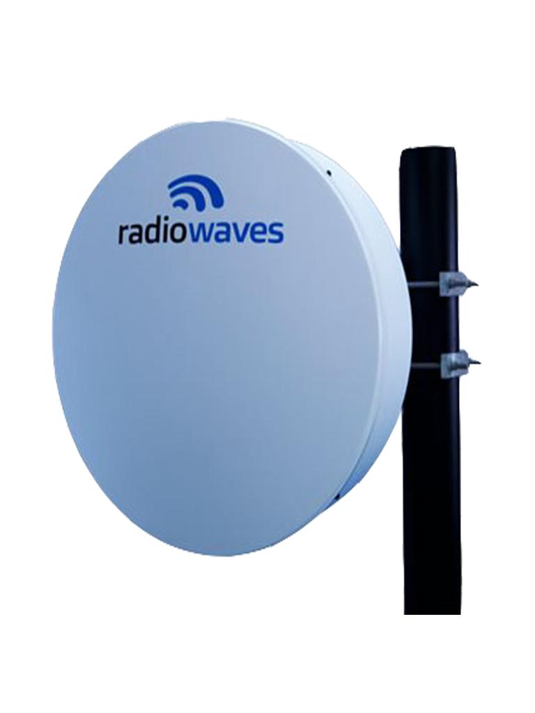 RADIOWAVES HPD247NS- Antena para Enlace PTP / Alto Desempeño / Doble Polaridad / 4.4-5.0GHz/ Incluye Radomo y Montaje /