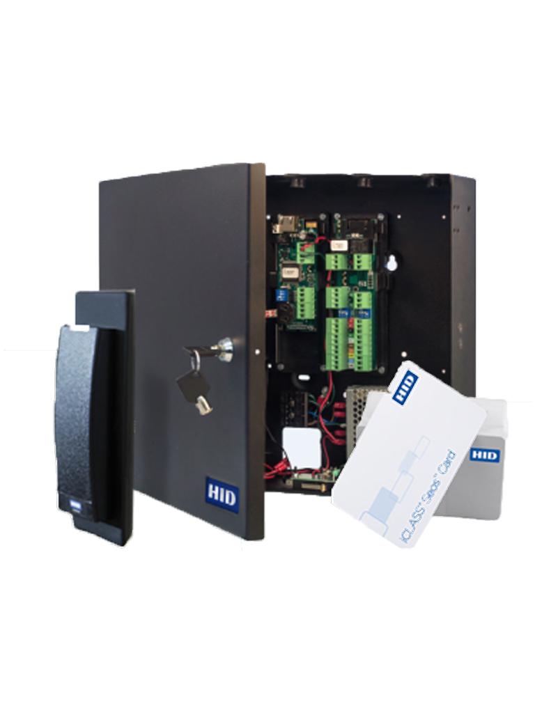 HID KITACW2 - Paquete de control de acceso  H ID para certificacion de marca / Solucion para 2 puertas / Incluye lectoras  iClass R10M / 50 Tarjetas seos