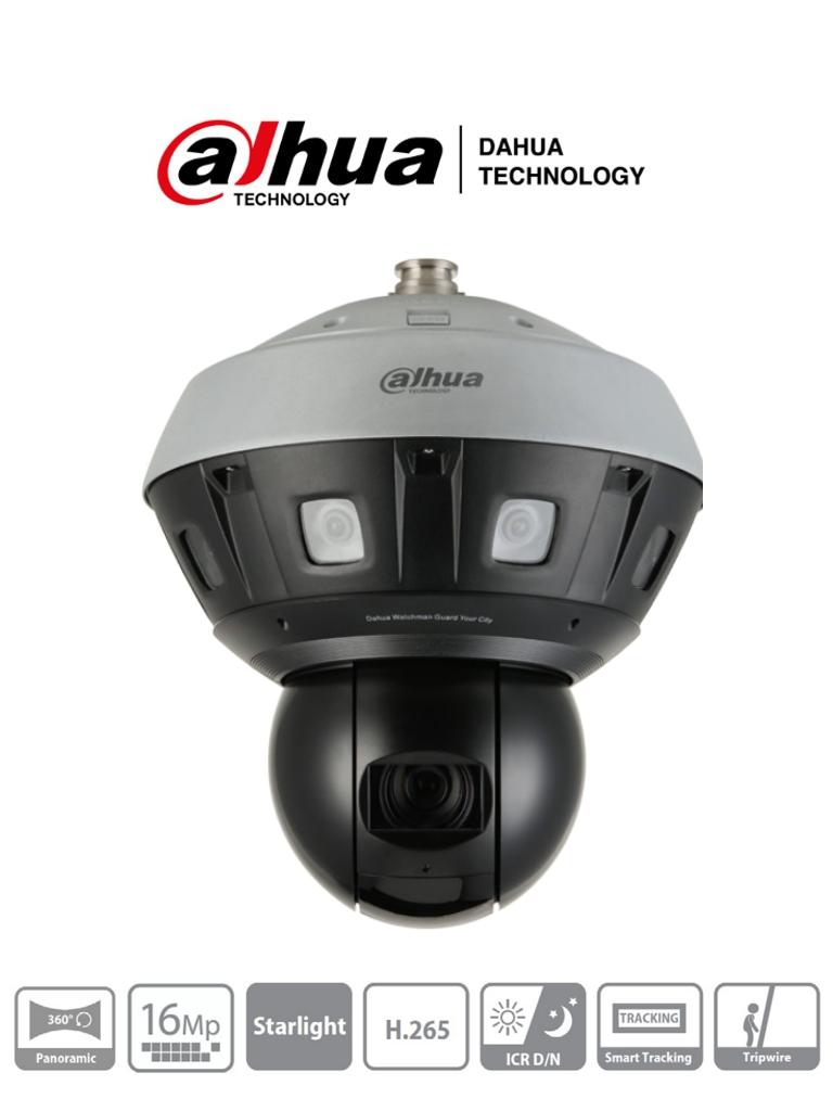DAHUA PSDW81642M-A360 - Camara IP Panoramica Multisensor 8x2MP+ PTZ 40x de ZOOM/ PTZ de 4 Megapixeles/ WizMind/ IR 400 Mts/ Smart Tracking/ H.265/ Starlight/ IP66/ 2&2 E&S de Audio/ 7&3 E&S de Alarma #RETAIL #Proyectos