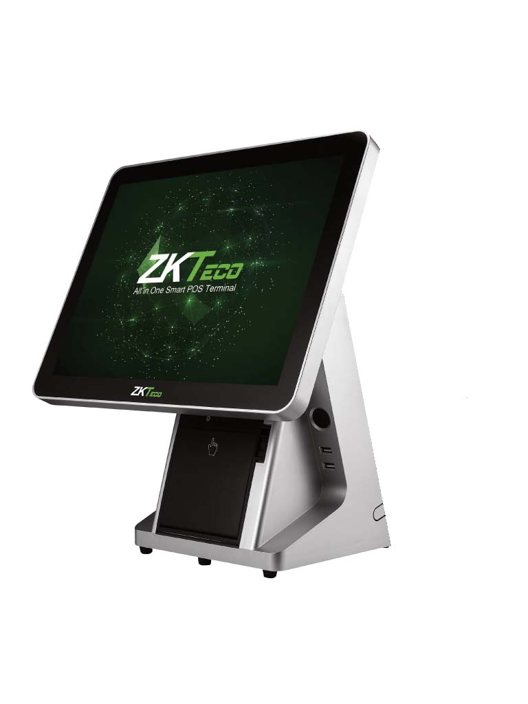 ZKTECO AIO2030 - Terminal Punto de Venta con Impresora Integrada / Pantalla Capacitiva de 15 Pulgadas / 4G RAM / 64G SSD / CORE I3 / Ticket 58 mm