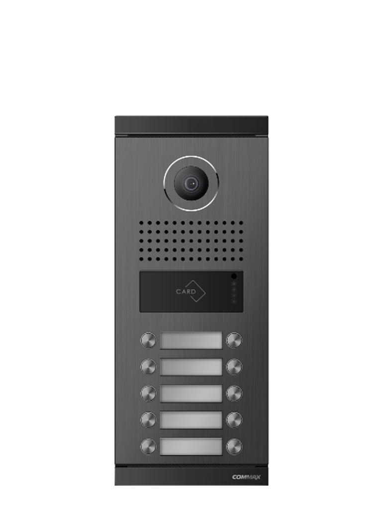 COMMAX DRC10ML - Frente de calle para 10 departamentos / Compatible con monitores  CDV / Conexion a 4 hilos / Apertura de puerta con tarjeta