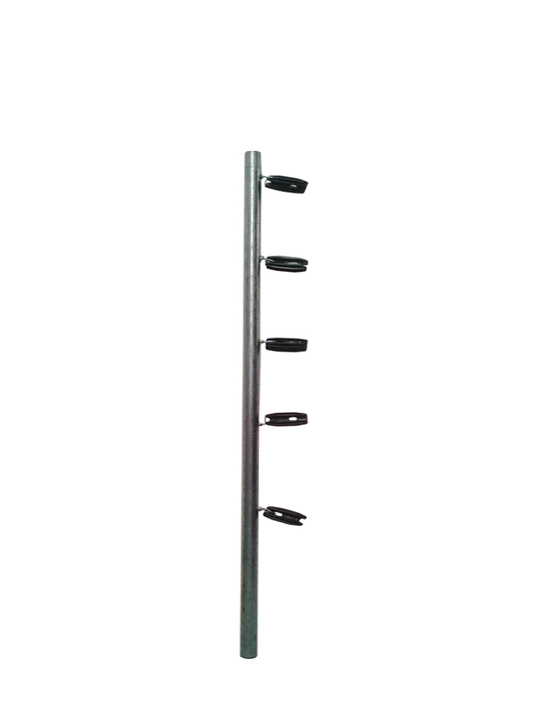 YONUSA TUBOAP201 - Poste para cercas electricas YONUSA / Con 5 aisladores de esquina / 1.20  Mts
