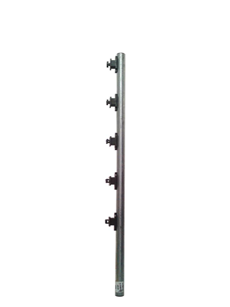 YONUSA TUBOAP101 - Tubo para cercas electricas YONUSA / Con 5 aisladores de paso / Tubo de 1.20  Mts