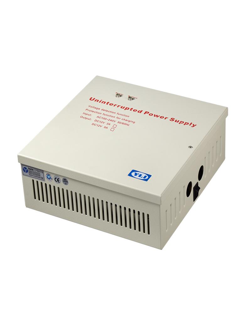 YLI YP903123 - Gabinete con fuente de energia con salida de 12VDC 3A, soporta bateria de respaldo, Alimentacion de entrad de AC100 - 240V