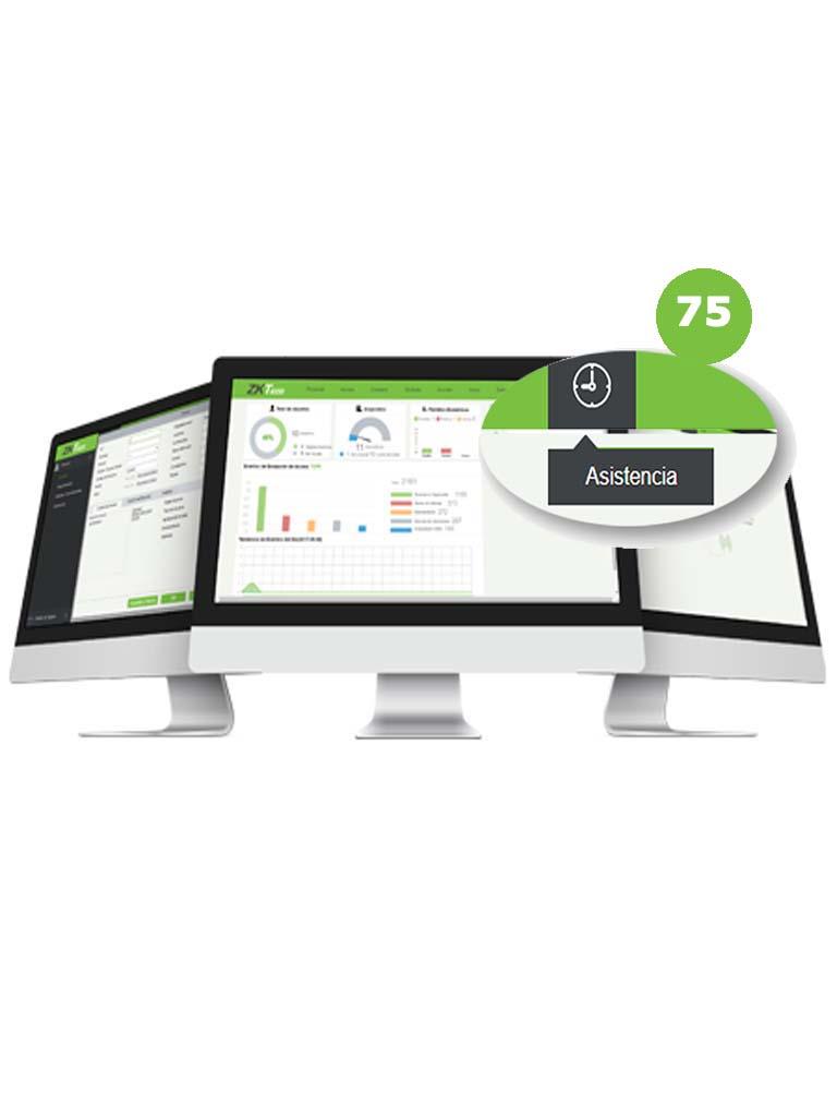 ZK ZKBSTAP753Y - Modulo de asistencia para Biosecurity / 10 Mil usuarios / 75 Terminales / 3 Años
