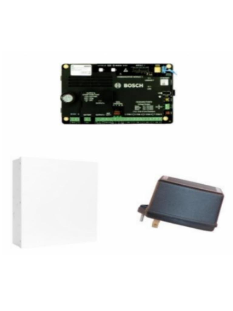 BOSCH I_B4512DP - Kit de panel 4512 / Caja metalica / Transformador de 18  VAC / PLUG In para telefono B430