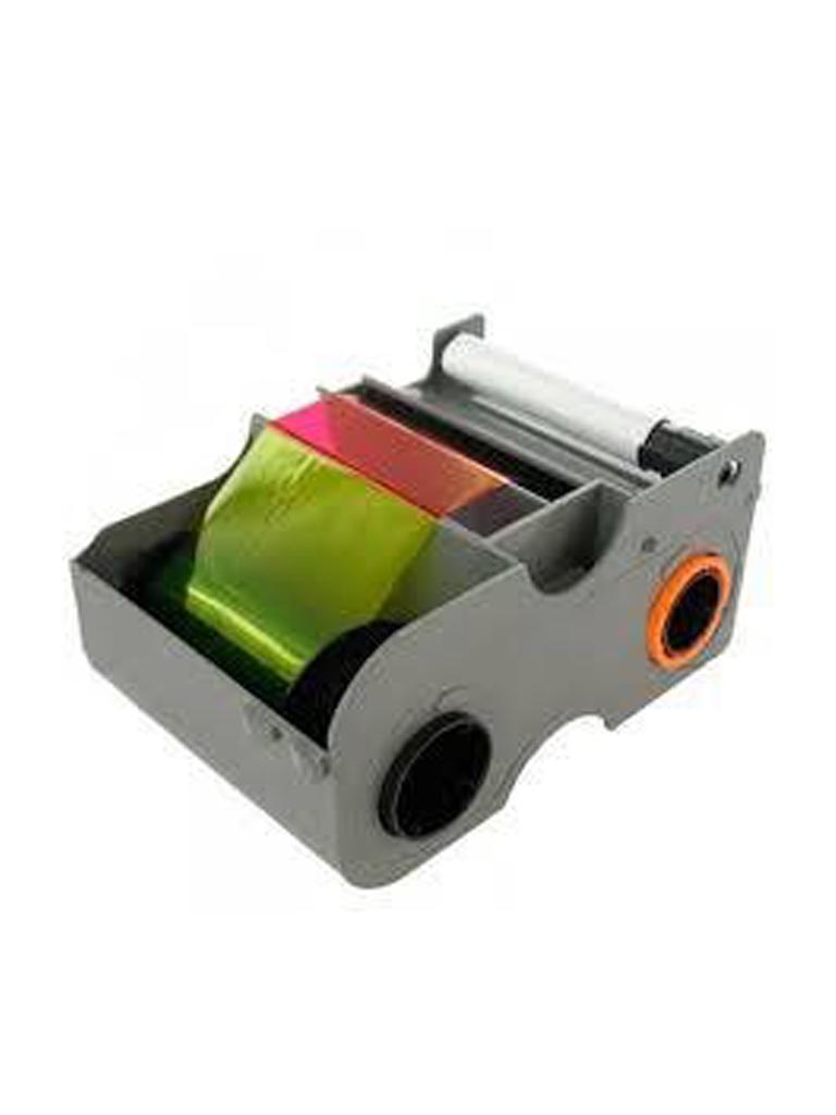 HID CINTA45000 - Cinta para impresion de tarjetas de PVC / 250 Credenciales un solo lado / Tinta   YMCKO / Compatible con impresoras DTC1250E