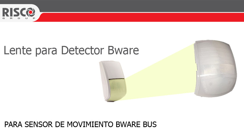 f99f17b8ee RISCO 3RL0025V-LENTE PARA CORREDOR SENSOR DE MOVIMIENTO BWARE BUS ...