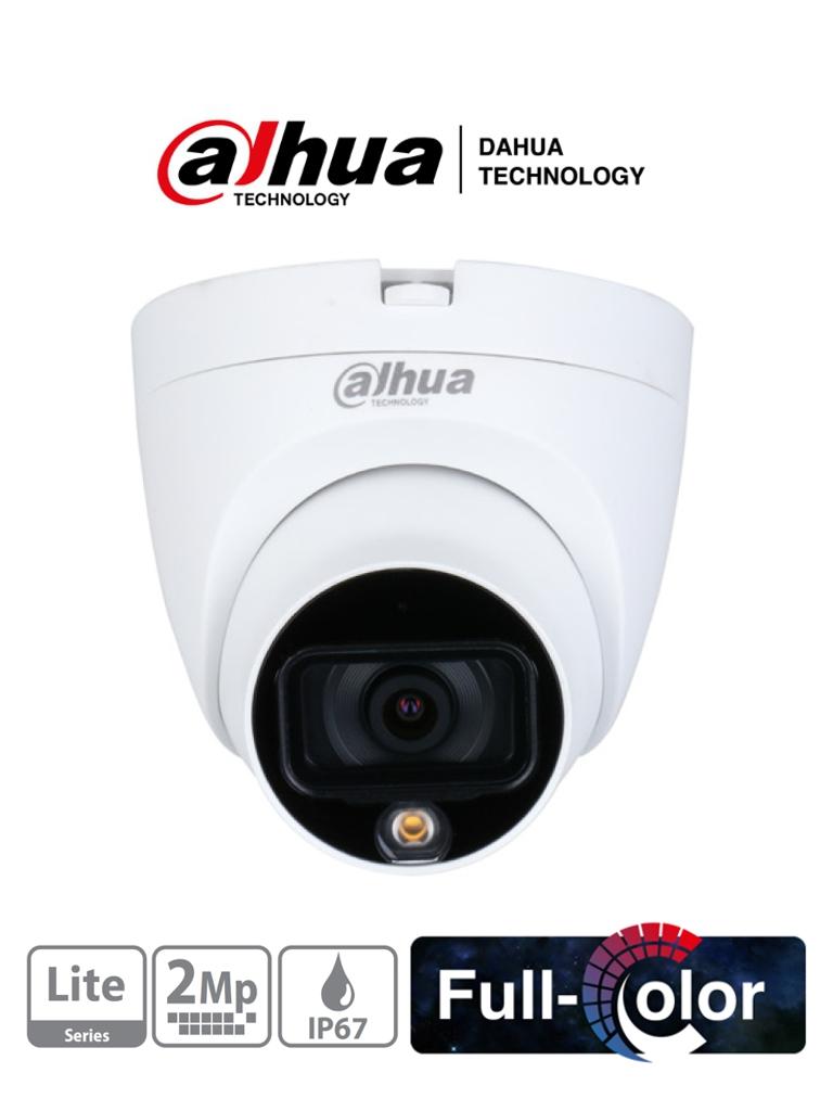 DAHUA HAC-HDW1209TLQP-LED - Camara Domo Full Color 1080p/ Lente de 2.8mm/ 106 Grados de Apertura/ Leds para 20 Metros de Luz Blanca/ Starlight/ IP67/ #FullColor