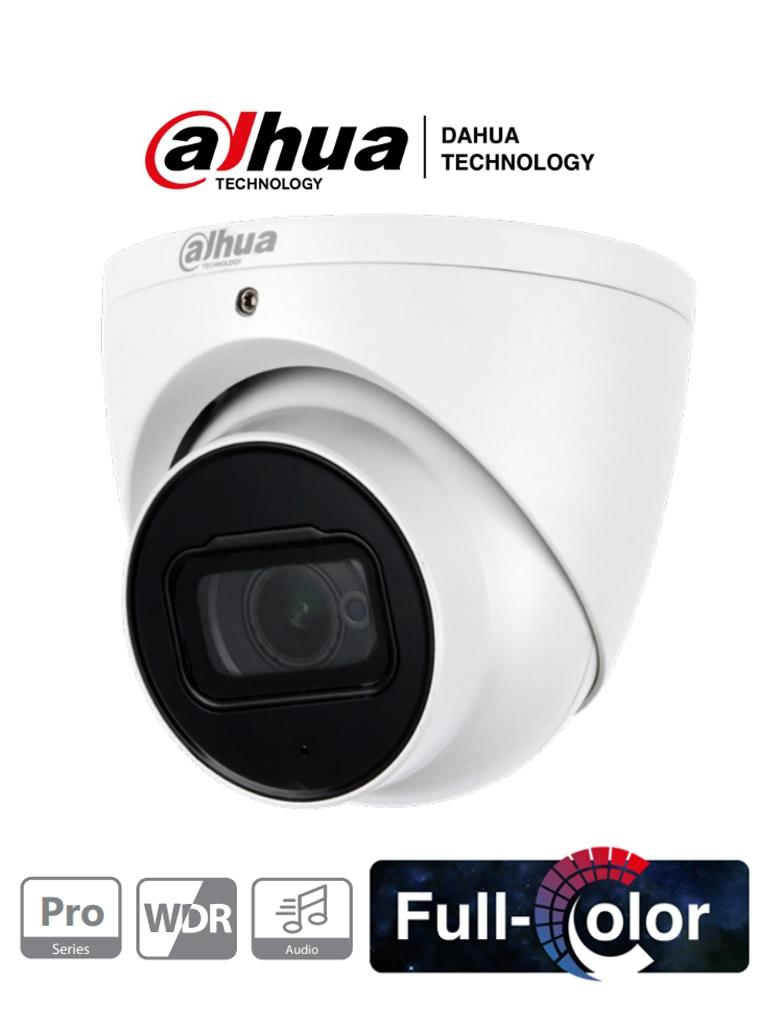DAHUA HAC-HDW2249T-A-NI - Cámara Domo Full Color 2 Megapixeles/ Serie Pro/ Lente de 3.6 mm/ Microfono Integrado + 1 Entrada de Audio/ FullColor-Starlight Sin Leds/ WDR Real/ IP67/ #FullColor #SeriePro