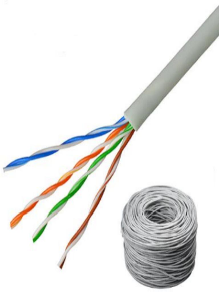 SAXXON OUTP5ECOP305BC - Cable UTP 100% cobre / Categoria 5E / Color blanco / Interior / 305  Mts / FLUKE TEST / Redes / Video / 4 Pares